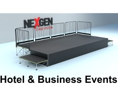 staging hire for business